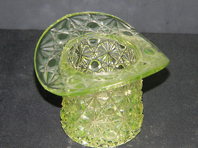 Daisy and Button pattern Vaseline Hat (1177-)