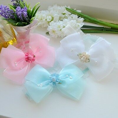 Baby/Girl Lovely Frilly Organza Hair Band/ Wedding/ Birthday/ Christening