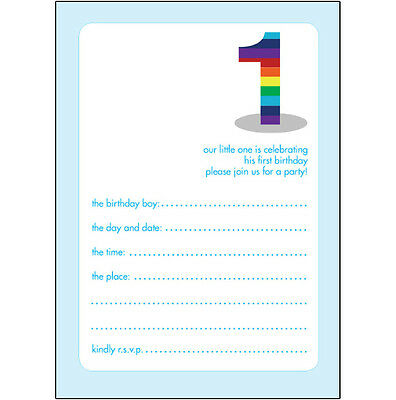 10 Childrens Birthday Party Invitations 1 Year Old Boy BPIF 06