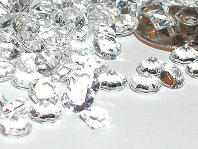 20 Fun acrylic luster clear diamond point crystals gems for bottles New 5.5mm