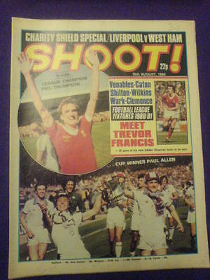 SHOOT! - FIXTURES 1980/81 - 16th Aug 1980