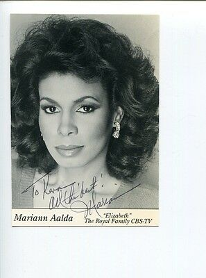 Mariann Aalda Guiding Light The Royal Family The Wiz Signed Autograph Photo