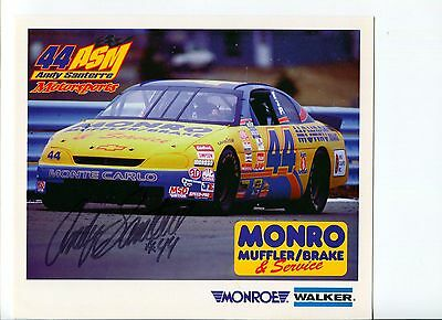 Andy Santerre 1998 NASCAR Rookie Of The Year Driver Owner Signed Autograph Photo