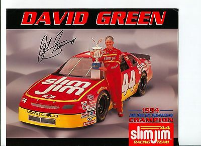 David Green NASCAR Sprint Cup Nationwide Truck Driver Signed Autograph Photo