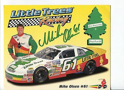 Mike Olsen NASCAR Sprint Cup Nationwide Truck Driver Signed Autograph Photo