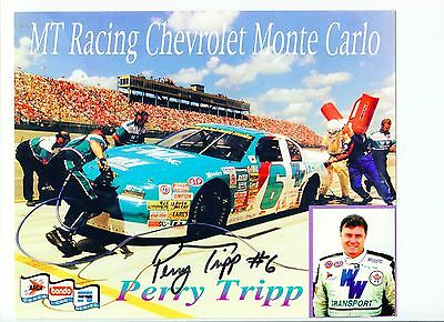 Perry Tripp NASCAR Nationwide Truck ARCA Driver Signed Autograph Photo