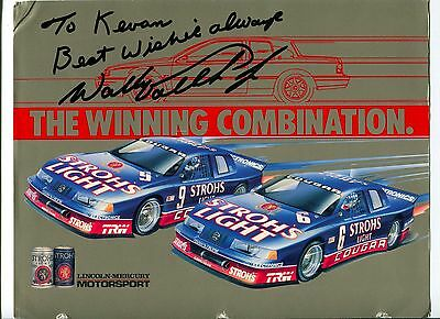 Wally Dallenbach Jr NASCAR Sprint Cup Nationwide Driver Signed Autograph Photo