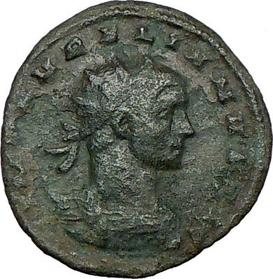 AURELIAN receiving Victory from Roma 270AD  Ancient Roman Coin i23386