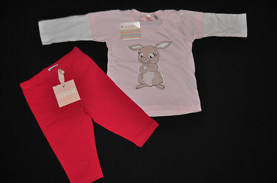 NEW with tags! Moppit bunny tee + Ouch leggings Sz 00. Easter! Free Post.