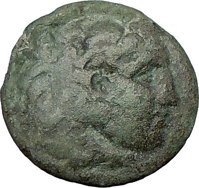 ALEXANDER III  Great 336BC Genuine  Ancient Greek Coin HERCULES i23722 Bow Club
