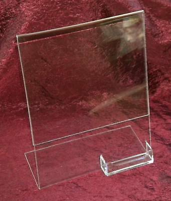"(25) 8.5"" x 11"" Acrylic Sign Display w/ Business Card Holders"