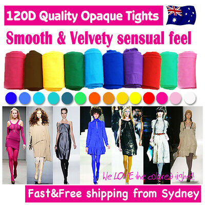 Tights Pantyhose Stocking Hosiery OPAQUE Pants Tag 140D The REAL 120D