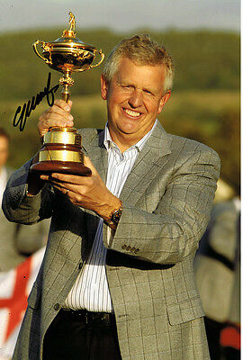 Colin Montgomerie HAND SIGNED 2010 Ryder Cup Captain 12x8 Photo Trophy AFTAL COA