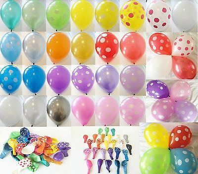 "12 x 12"" HELIUM QUALITY PEARLISED LATEX BALLOONS, POLKA DOTS AND MIXES AVAILABLE"