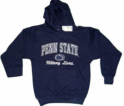 PENN STATE NITTANY LIONS  ADULT NAVY EMBROIDERED V-NOTCH HOODED SWEATSHIRT NWT