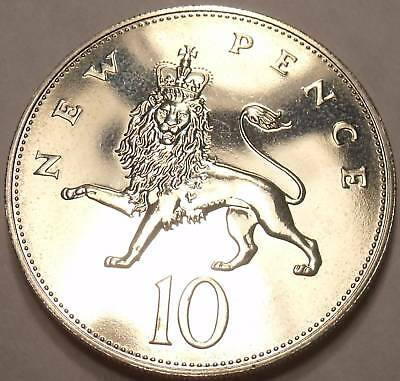 Large Proof Great Britain 1974 10 New Pence~We Carry GB Proof Coins~Free Ship