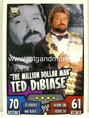 Slam Attax #299 Million Dollar Man Ted Dibiase Live 2018