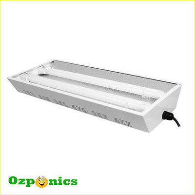 White T5 Propagation Light Hydroponics Propagator With 2X55W Tubes Series Port