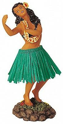 New Hawaiian Hawaii Dashboard Hula Dancer Dancing Pose Doll Green # 40621