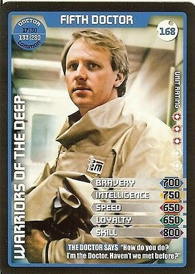 Dr Who Monster Invasion Set 2 Extreme Card: 168 Fifth Doctor