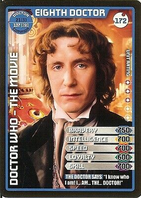 Dr Who Monster Invasion Set 2 Extreme Card: 172 Eighth Doctor