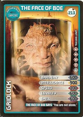 Dr Who Monster Invasion Set 2 Extreme Card: 213 The Face Of Boe