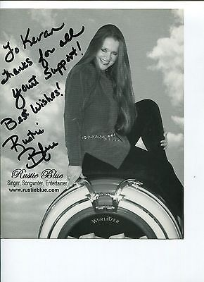 Rustie Blue Country Blues Singer Songwriter Signed Autograph Photo