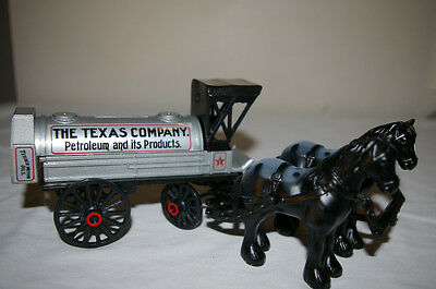 NIB TEXACO COIN BANK VINTAGE HORSE & TANKER LIMITED EDITION #8 Die-cast