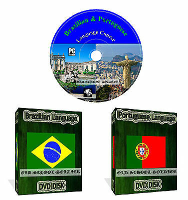 Learn How To Speak Brazilian Portuguese Language Course Dvd Disk