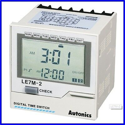 FA Industrial Digital Timer Autonics LE7M-2 Programmable Multi mode
