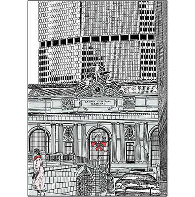 Pack of 10 New York City Christmas Cards - Grand Central No. x10