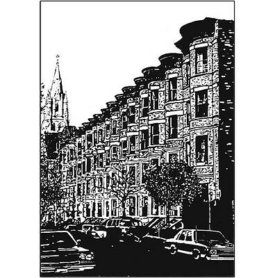 Pack of 10 New York City Note Cards & Envelopes - Carroll Street, No. 02
