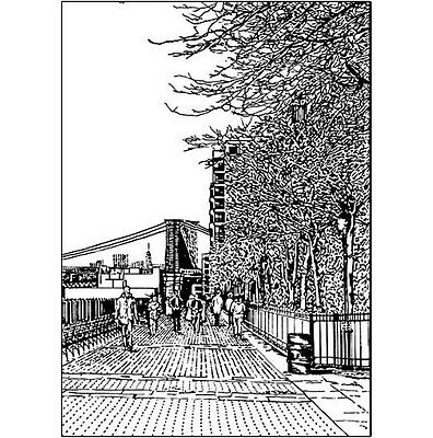 Pack of 10 New York City Note Cards & Envelopes - The Esplanade, No. 06