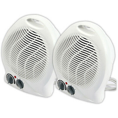 2 X 2000W Portable Silent Electric Fan Heaters Hot & Cool Air Brand New Heater