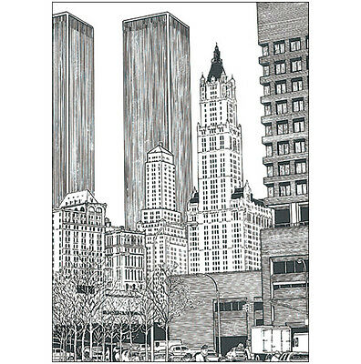 Pack of 10 New York City Note Cards - Lower Manhattan - No. 25