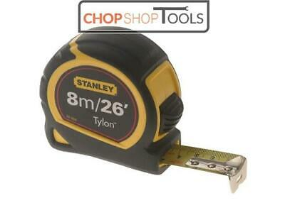 New Stanley 8m/26ft  Pocket Tape Measure with Tylon Blade  30-656
