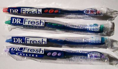 144 Dr Fresh Prepasted Toothbrushes disposable wrapped