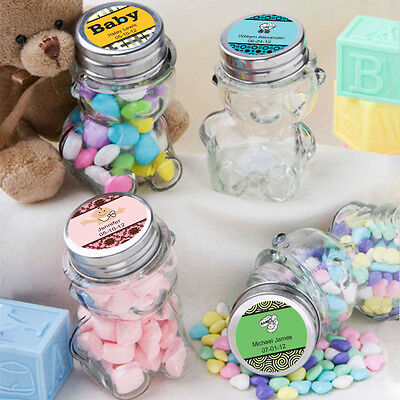 80 - Personalized Baby Shower Teddy Bear Jars