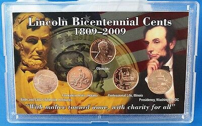 2009-D Uncirculated  Abraham Lincoln Birth Bicentennial Pennies in Gift Case