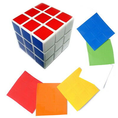 PLE - Standard Puzzle Toy Magic Cube Sticker Decal 3X3 for Replacement