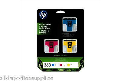 HP 363 / No.363 ( CB333EE ) 3x Cyan, Magenta & Yellow Multipack Ink Cartridges