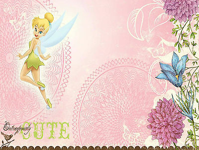 Tinkerbell 2 Edible Icing Party Cake Topper Decoration Image Custom