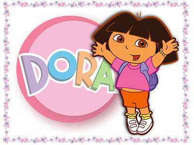 Dora 2 Edible Icing Party Cake Topper Decoration Image Custom