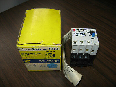 New Square D 9065 TD 0.8 Manual Starter .8A to 1.6A