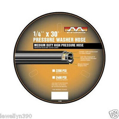 """1/4""""  30' MI-T-M Cleanmaster Replacement Pressure Washer Hose 1/4""""  AW-0015-0239"""