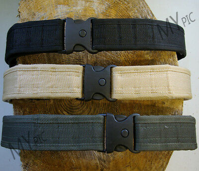 VIPER SECURITY BELT – quality heavy duty quick release black sand or olive green