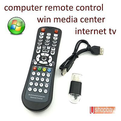 Computer Ultra Mini Remote Control Wireless USB IR Laptop PC/TV w Laser Pointer