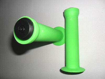 GREEN SCOOTER GRIPS 130mm with bar ends