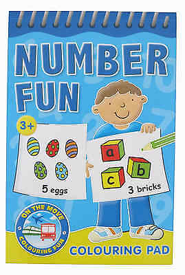 Numbers 123 Colouring Book sturdy colouring pad great for travelling
