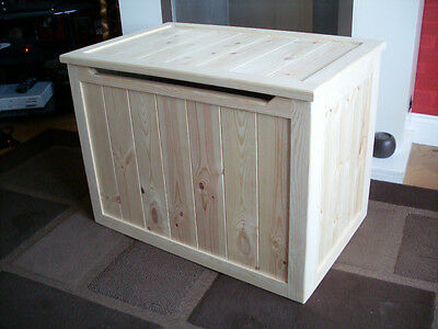 Beautiful Hand Crafted Pine Wooden Toy Box